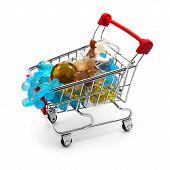 Shopping Cart With Gemstone Beads