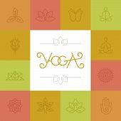 Vector Linear Yoga Logo