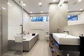 Modern Luxury Bathroom With Bath