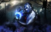 image of warlock  - Artistic photo of warlock magic of light - JPG