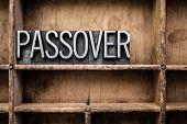 Passover Vintage Letterpress Type In Drawer