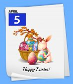 Illustration of April 5 is Easter day