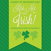 St. Patrick's Day Sash Card In Vector Format.