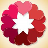 Circle Of Hearts In Vector Format.