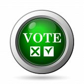 picture of voting  - Vote icon - JPG