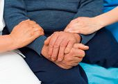 picture of kindness  - Kind care from every medical professionalist for sick elderly patient - JPG
