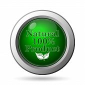 image of 100 percent  - 100 percent natural product icon - JPG