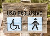 picture of pedestrians  - walkway for the exclusive use of pedestrians and wheelchairs - JPG