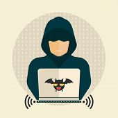 stock photo of hack  - Hacker - JPG