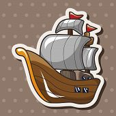 pic of pirate ship  - Pirate Ship Theme Elements - JPG