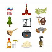 image of vodka  - Set of symbols and icons for Russia - JPG