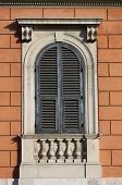Arched window in Rome (Italy)