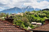 picture of chapels  - Bulgarian mountain village - JPG