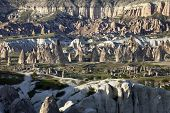 picture of goreme  - View of Cappadocia valley at sun sunset - JPG