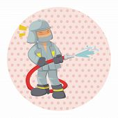 picture of fireman  - People Theme Fireman Elements Vector - JPG
