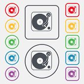 picture of jukebox  - Gramophone vinyl icon sign - JPG