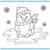 stock photo of animated cartoon  - Vector illustration of Penguin cartoon  - JPG