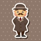 pic of private detective  - Detective Theme Elements - JPG