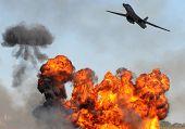 Bomber Attacking Target