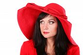 Young Woman In Red Hat