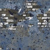 Blue Navy Grungy Painted Brick Wall Seamless Background