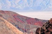The Spectacular Contrast Of Color At Death Valley National Park In California, Usa.