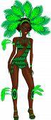 Carnival Green Girl