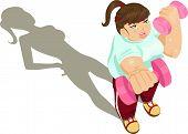 Overweight Girl Exercising