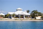 foto of beach-house  - tropical house near the caribbean sea tropical view - JPG