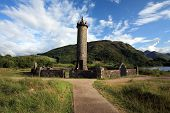 Leaning Glenfinnan Monument.