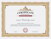 Certificate Template. poster