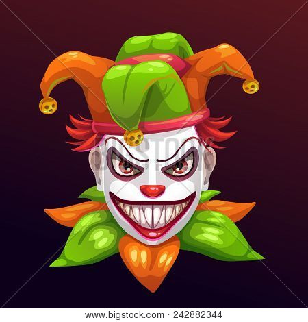 Crazy Creepy Joker Face Angry