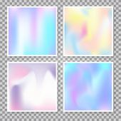 Hologram Abstract Backgrounds Set. Plastic Gradient Backdrop With Hologram. 90s, 80s Retro Style. Ir poster