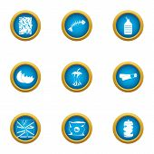 Rubbish Heap Icons Set. Flat Set Of 9 Rubbish Heap Vector Icons For Web Isolated On White Background poster