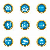 Car Deal Icons Set. Flat Set Of 9 Car Deal Vector Icons For Web Isolated On White Background poster