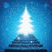 Stairway to Christmas Tree Light