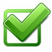 Green check box with check mark