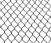 stock photo of metal grate  - Chainlink fence - JPG