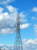 Hydro Tower On The Blue Sky Background (centered)