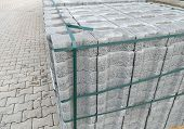 Stone Parquet Pavement And Prepared To Make Its Way,stone Parquet poster