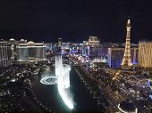 LAS VEGAS, NEVADA - OCT. 6:  Caesars Palace, Bellagio and Paris resorts on the strip on October 6, 2