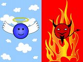 Angel In Heaven And Devil In Hell