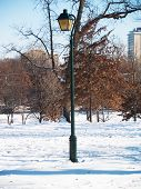 Lamp And Snow 01
