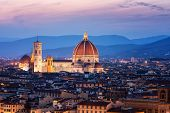 Florence Cathedral At Night In Florence - Italy poster