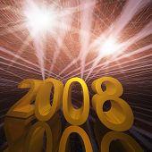 New Year 2008 Sparkle Grunge
