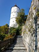 Town Wall and Weisser Turm (White Tower) of Biberach, Germany