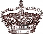 stock photo of romanov  - queen crown - JPG