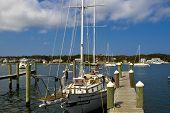 pic of martha  - Photo of boat on dock Marthas vineyard - JPG