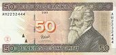 50 Lithuanian litas, the front side.