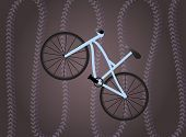 Bike on the dark violet background with traces